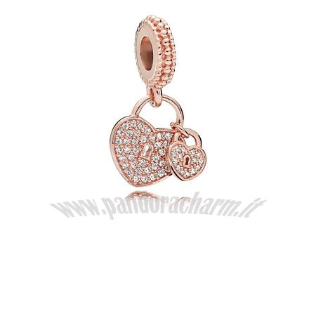 Crea Il Tuo Amore Locks Dangle Charm Rose Chiaro pandoracharm