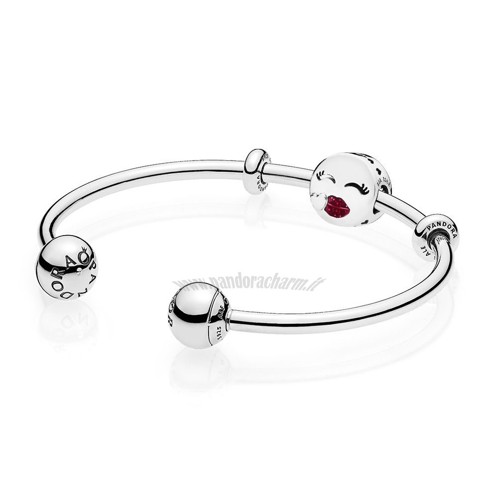 Crea Il Tuo Cute Bacio Open Bangle Regalo pandoracharm