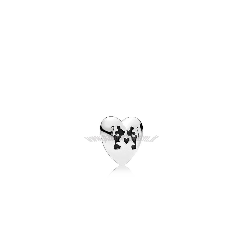 Crea Il Tuo Disney Charms Mickey Minnie Bacio Petite Charm Nero Smalto pandoracharm