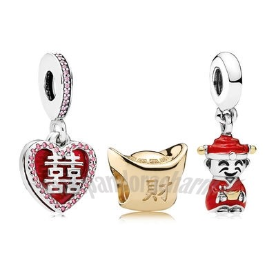 Crea Il Tuo Happiness Fortune And Luck Charm Pack pandoracharm