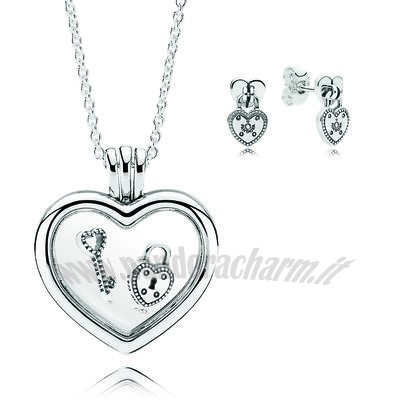 Crea Il Tuo Lock Your Promise Necklace Gift pandoracharm