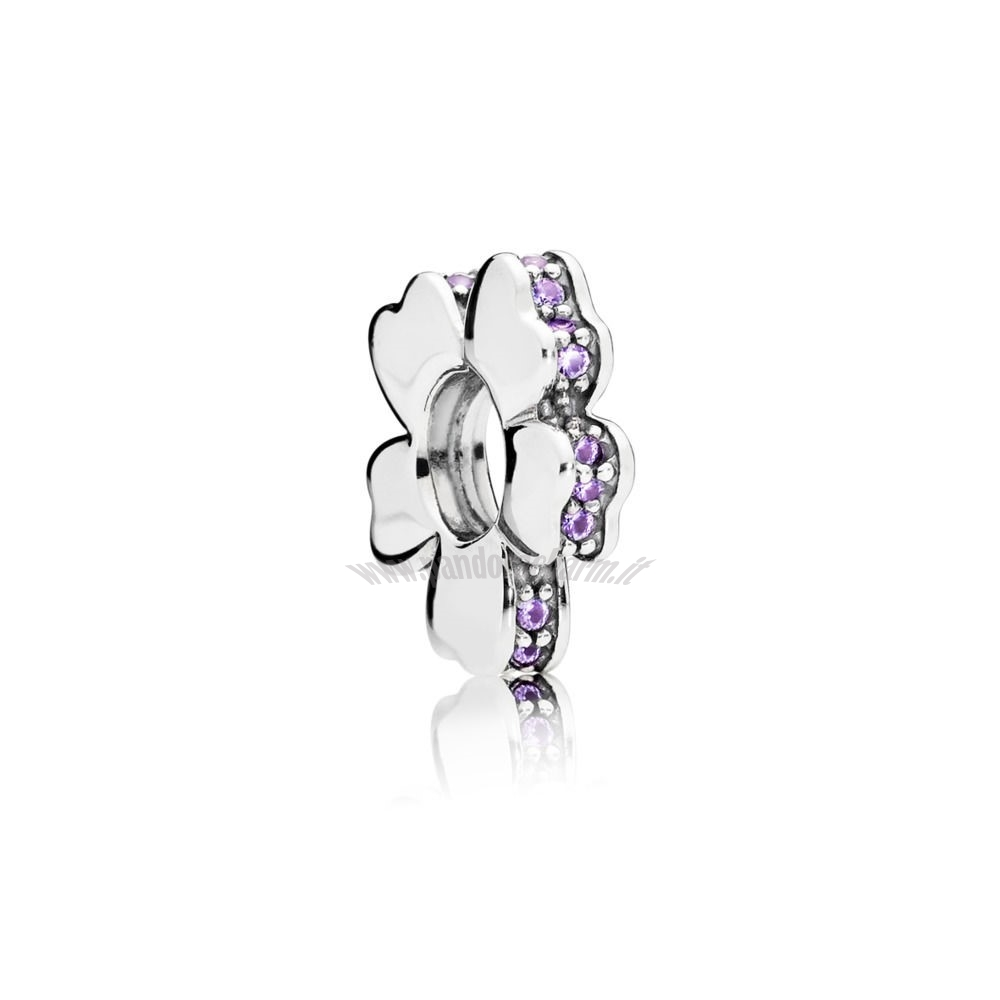 Crea Il Tuo Purple 33.00 Wildflower Prato Spacer Fascino pandoracharm